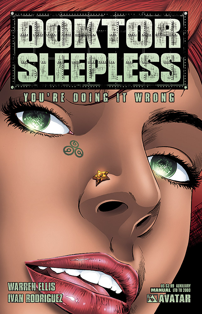 DOKTOR SLEEPLESS MANUAL 1 Auxiliary US 399 Cover Ivan Rodriguez Writer Warren Ellis Art Felipe Massafera Readership MR