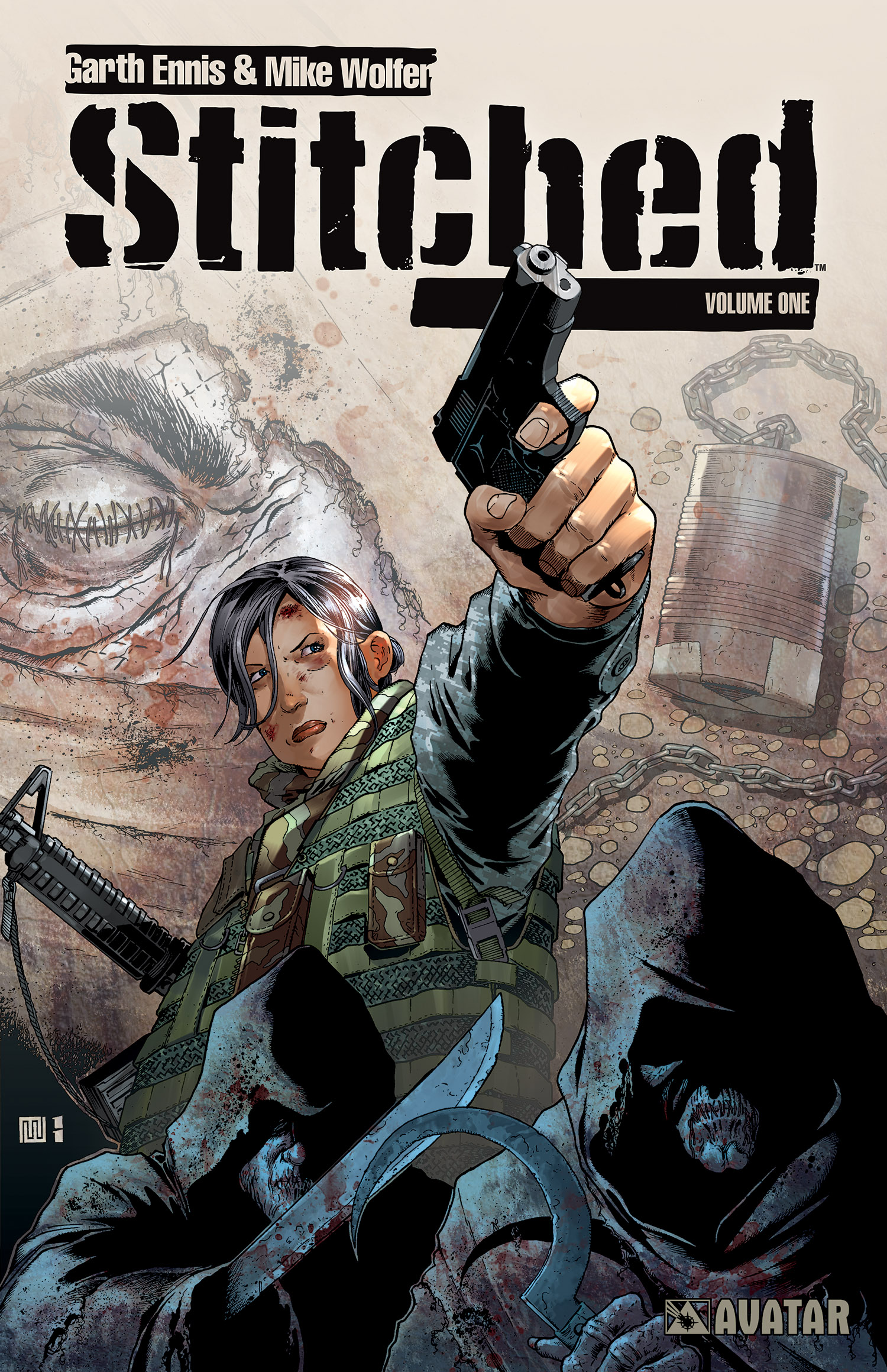 Stitched volume 1 by Garth Ennis and Mike Wolfer from Avatar Press